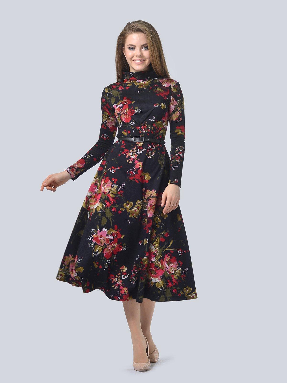 Платье в цветочный принт | 3794596 | фото 2
