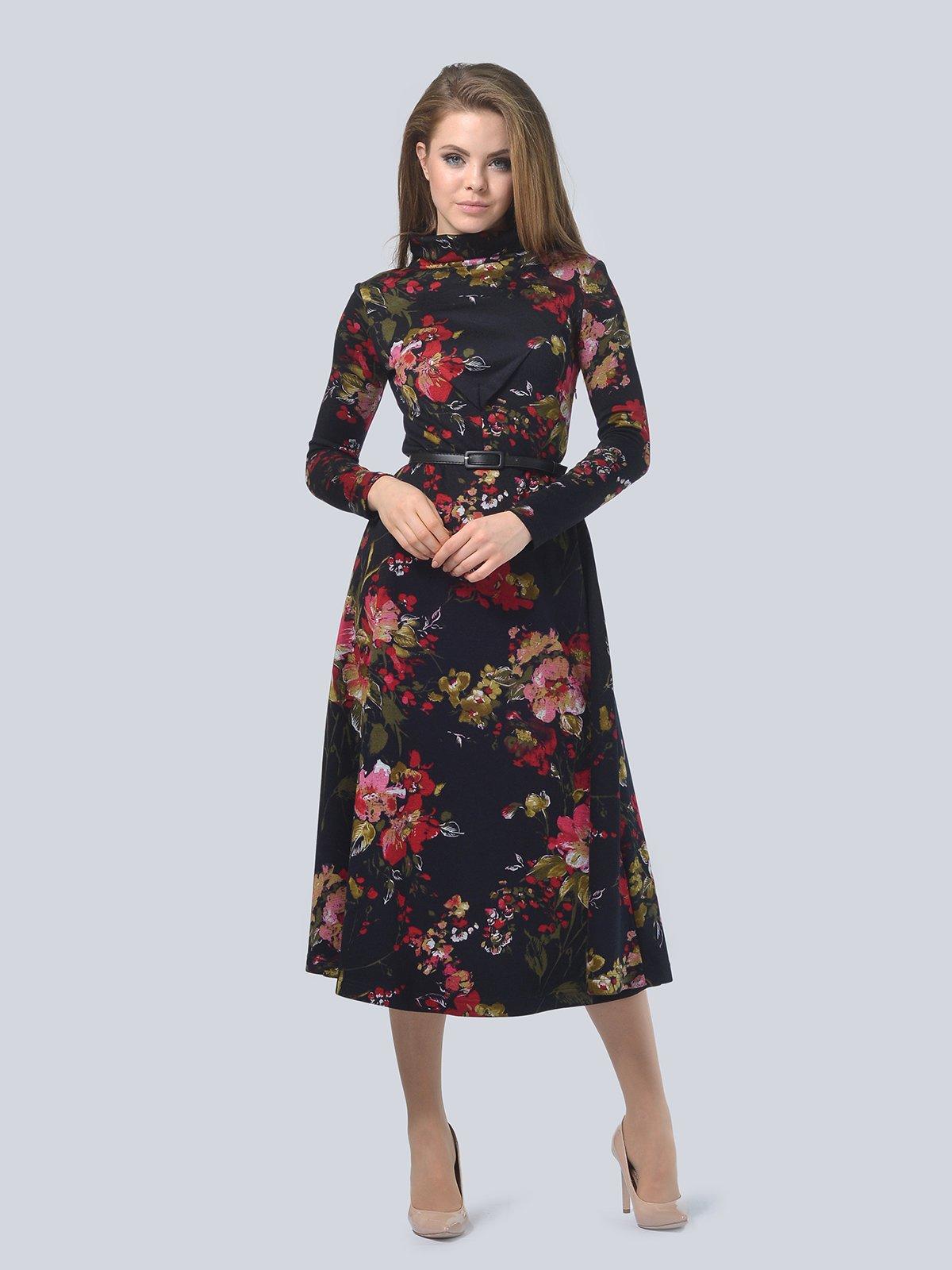 Платье в цветочный принт | 3794596 | фото 3