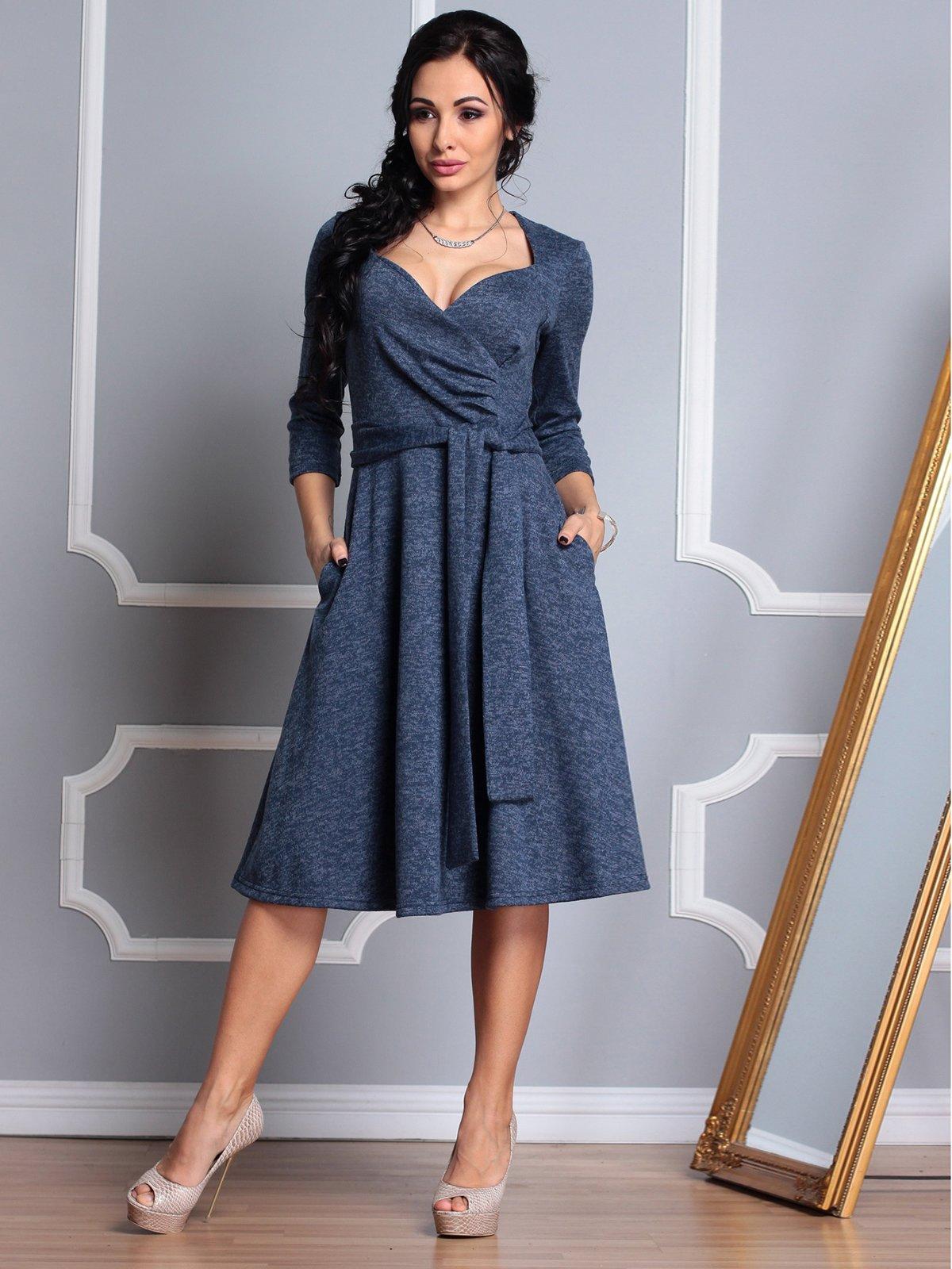Платье темно-синее | 3794381