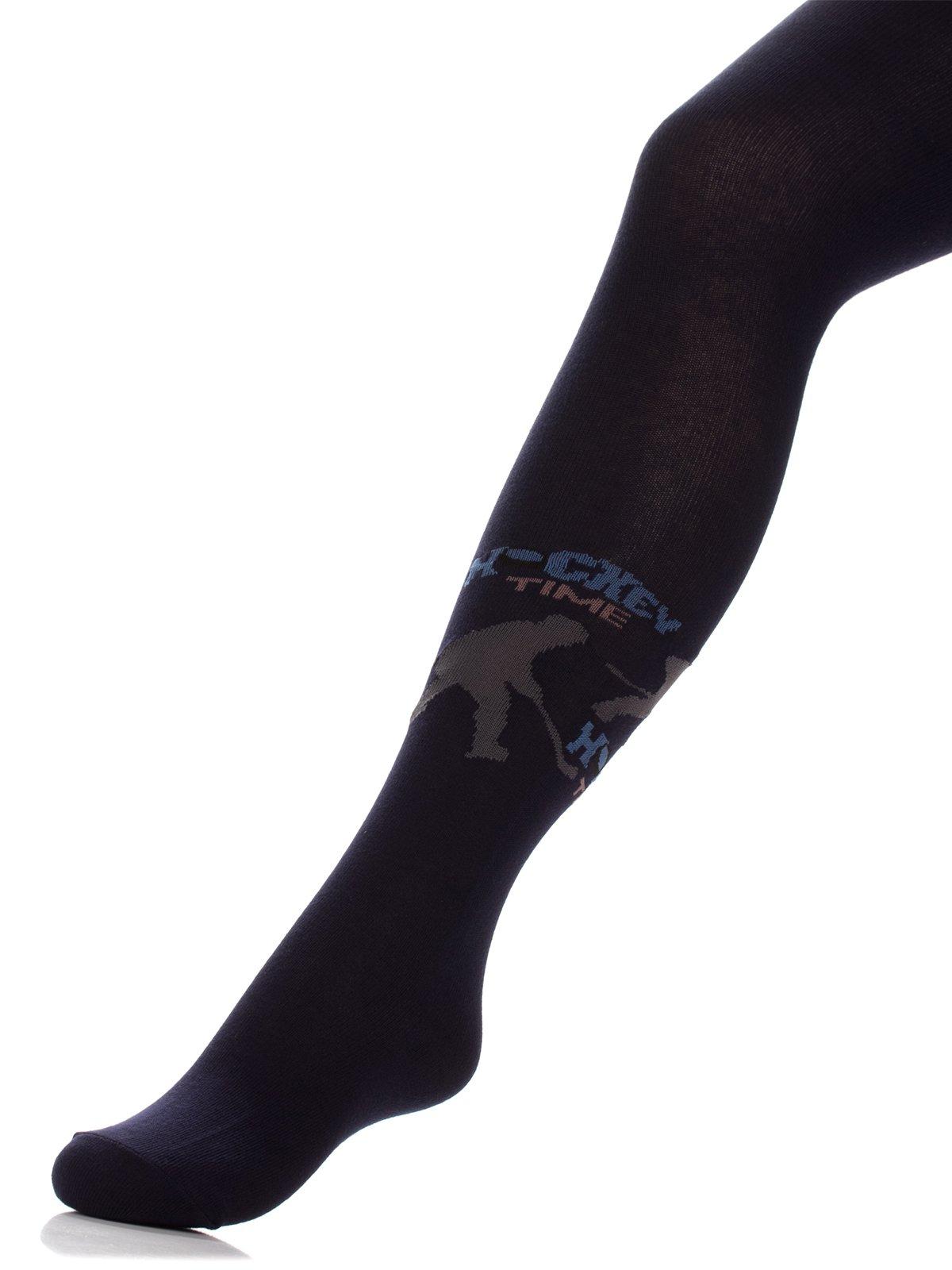 Колготки темно-сині з принтом   3750479