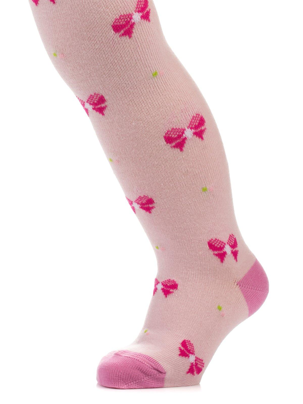 Колготки светло-розовые в рисунок   3750190