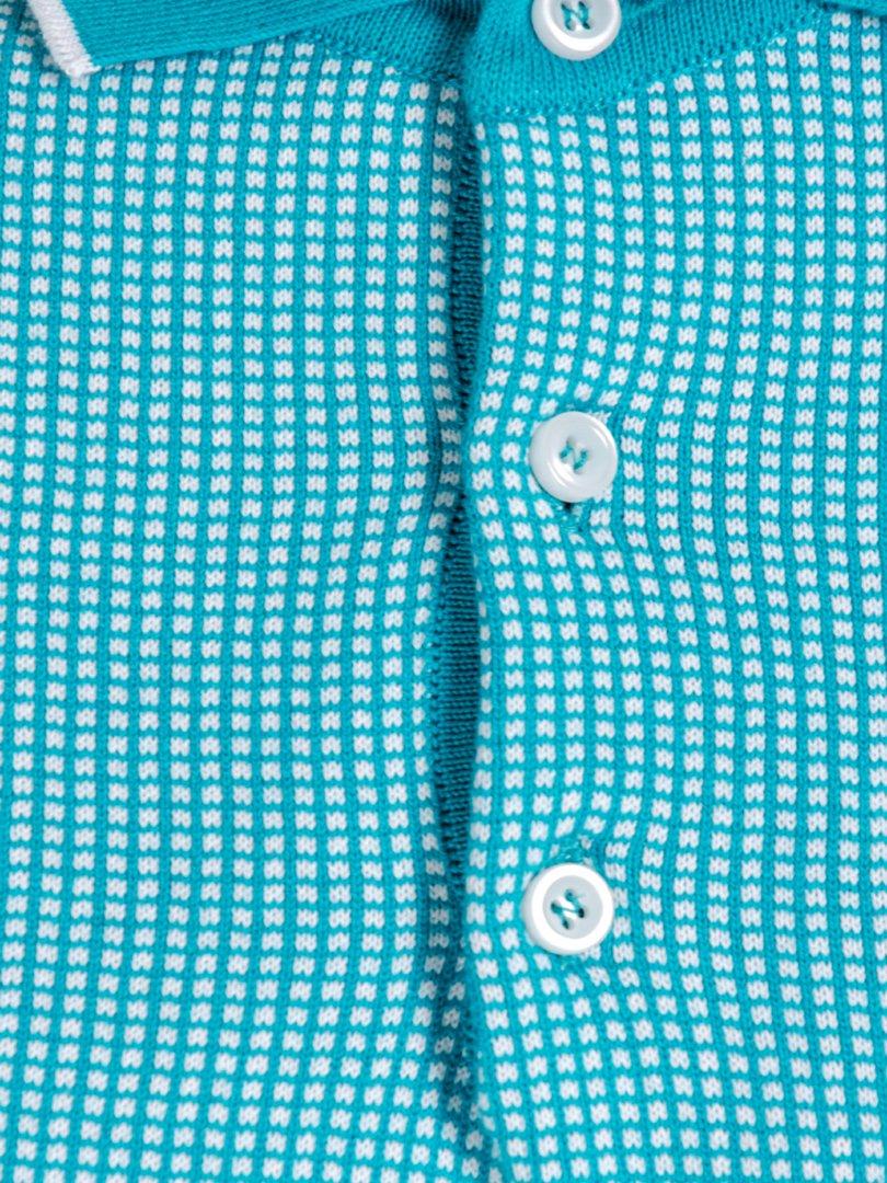 Футболка-поло голубая | 3800768 | фото 4