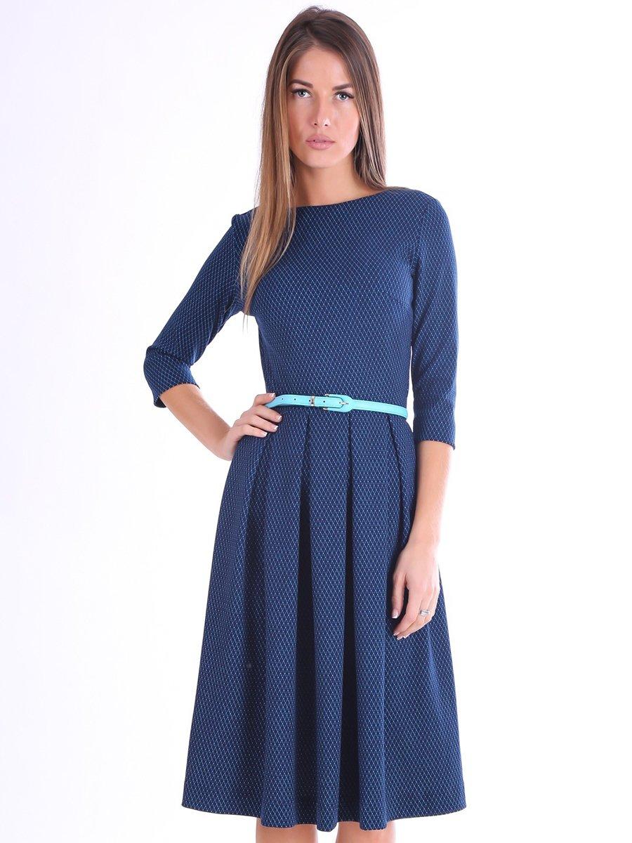 Платье синее в принт | 3801799