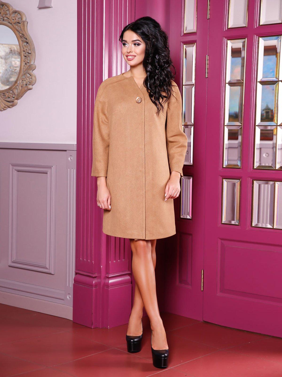 Пальто бисквитного цвета | 3810523