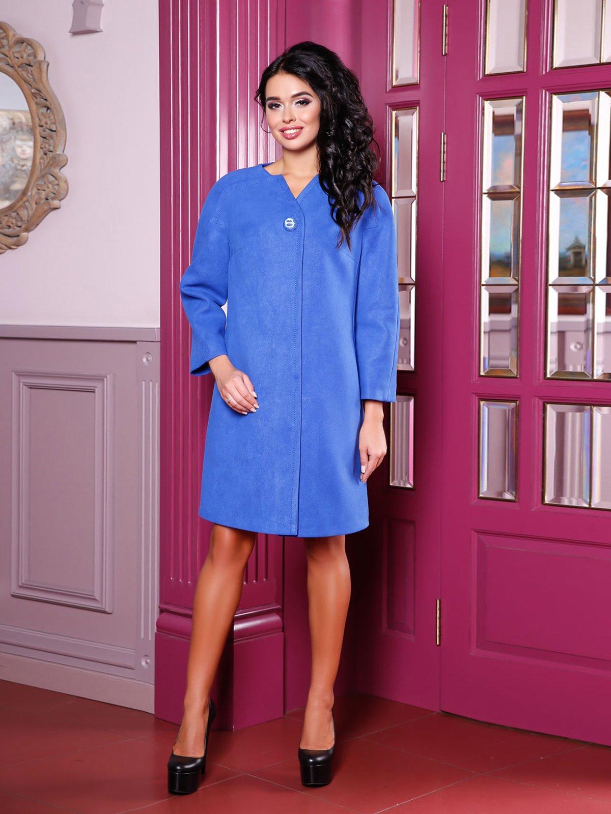 Пальто кольору електрик   3810527