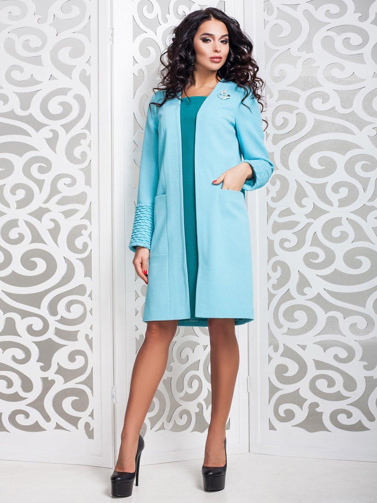 Пальто голубое | 3810537