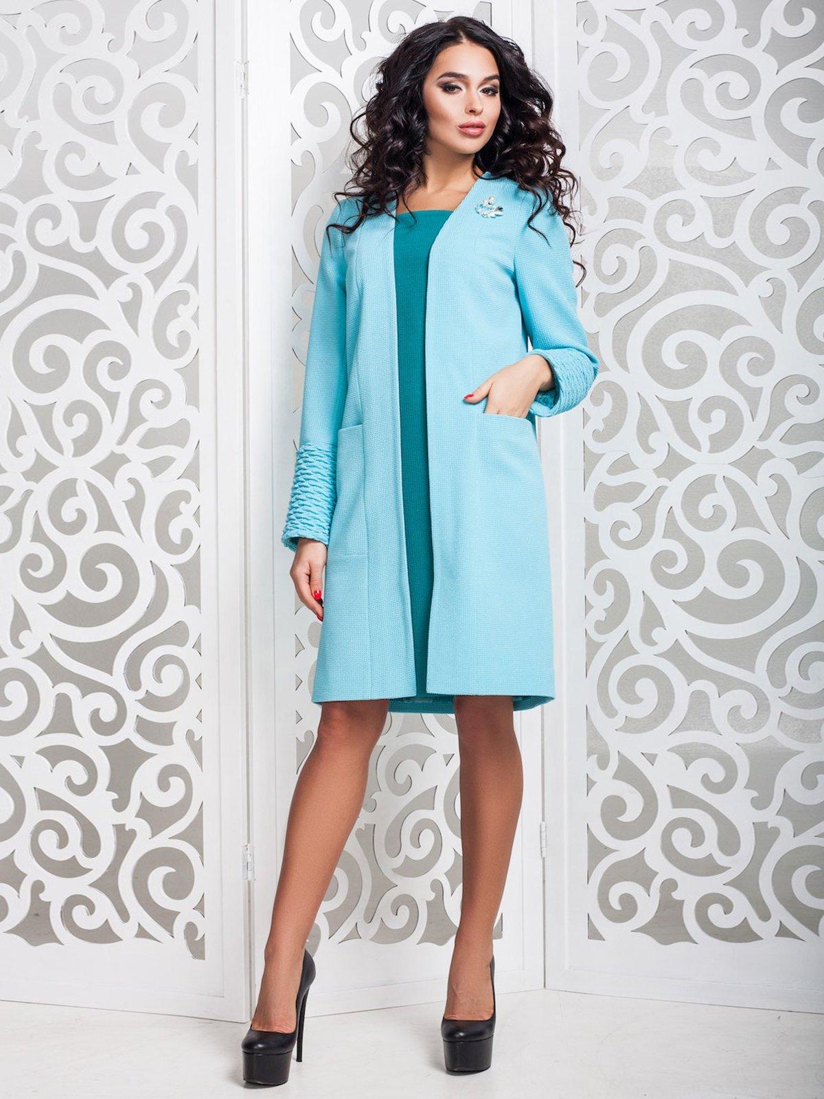 Пальто голубое | 3810537 | фото 13