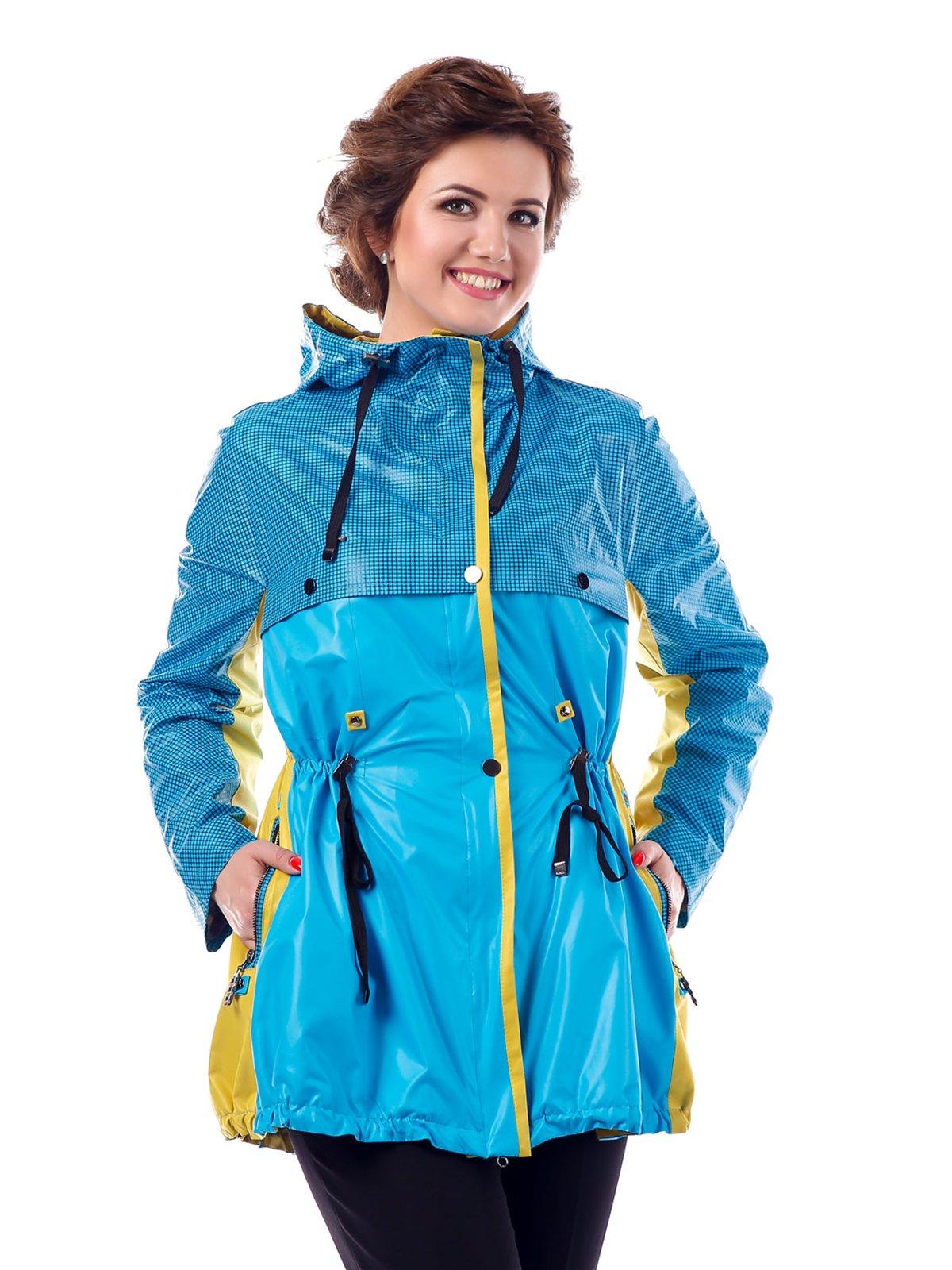 Куртка желто-голубая в клетку | 3810583