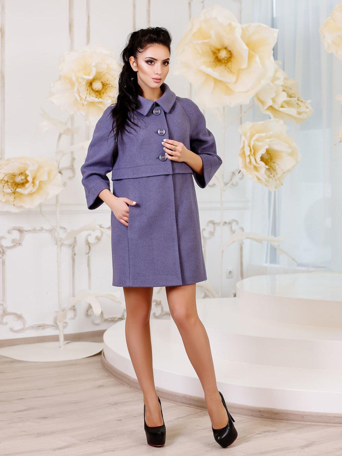 Пальто сіро-синє | 3810587