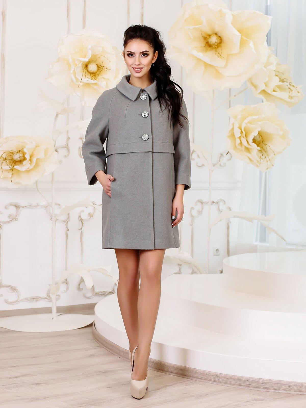 Пальто оливкового кольору | 3810591