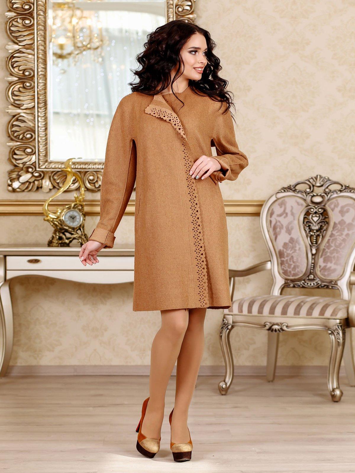 Пальто світло-коричневе   3810598