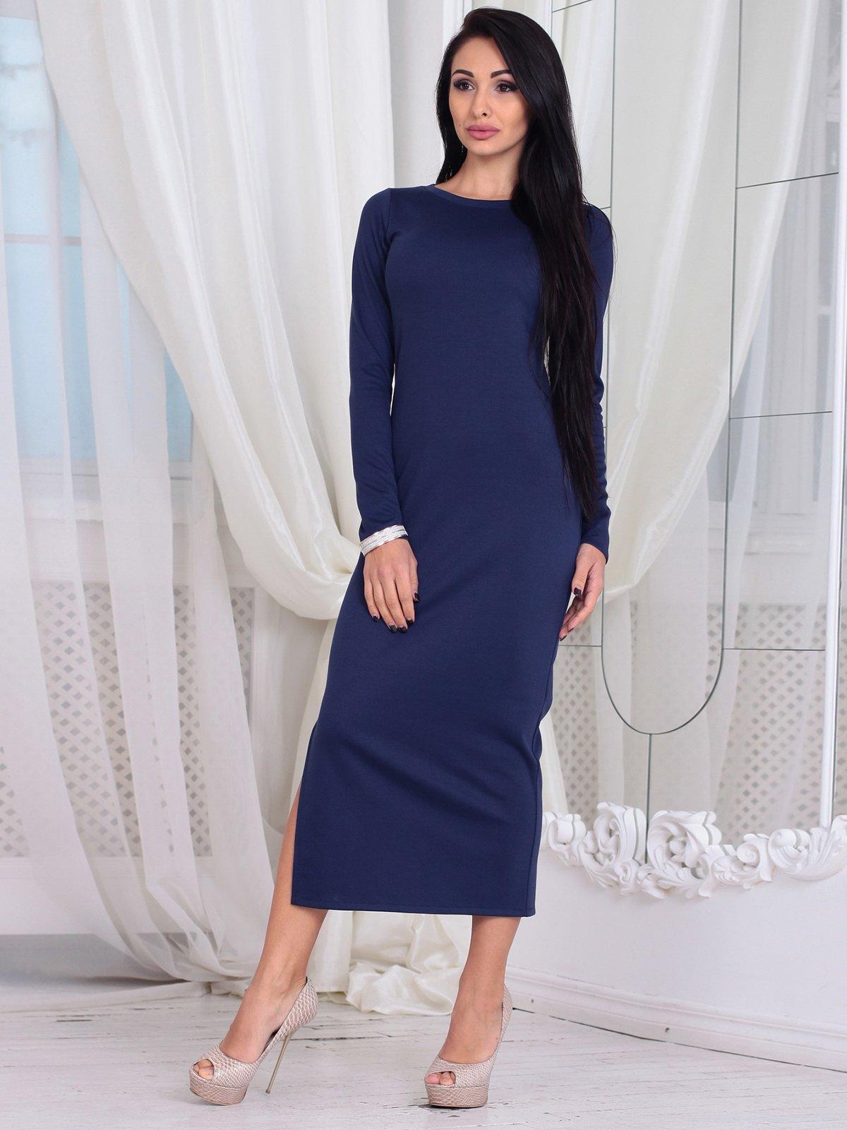 Платье темно-синее | 3788198