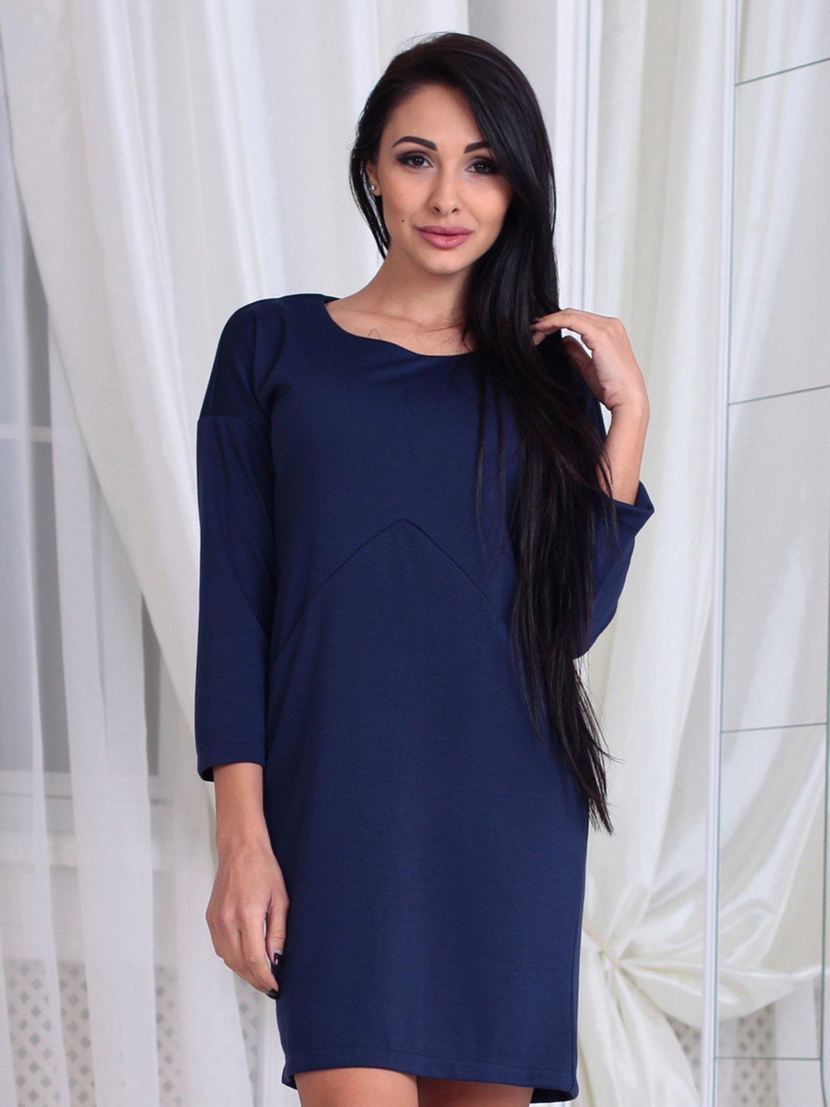 Платье темно-синее | 3788202