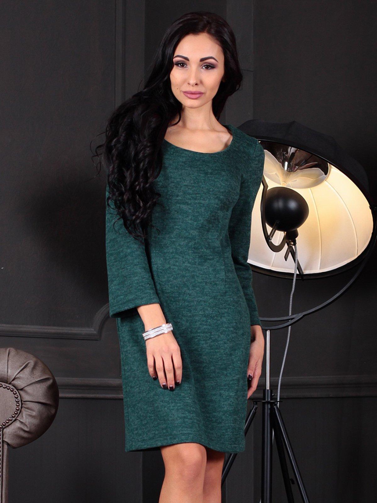 Платье темно-изумрудное | 3788204