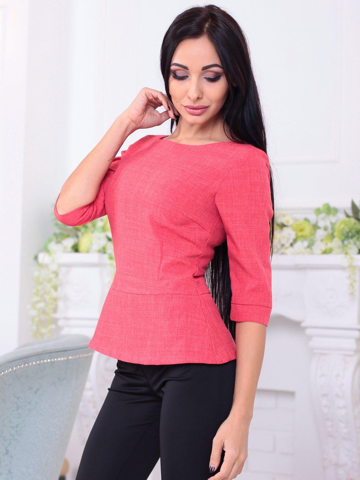 Блуза кольору червоний корал   3788250