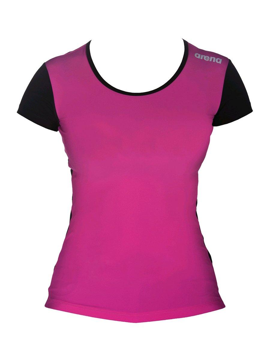 Футболка чорно-рожева | 3808525