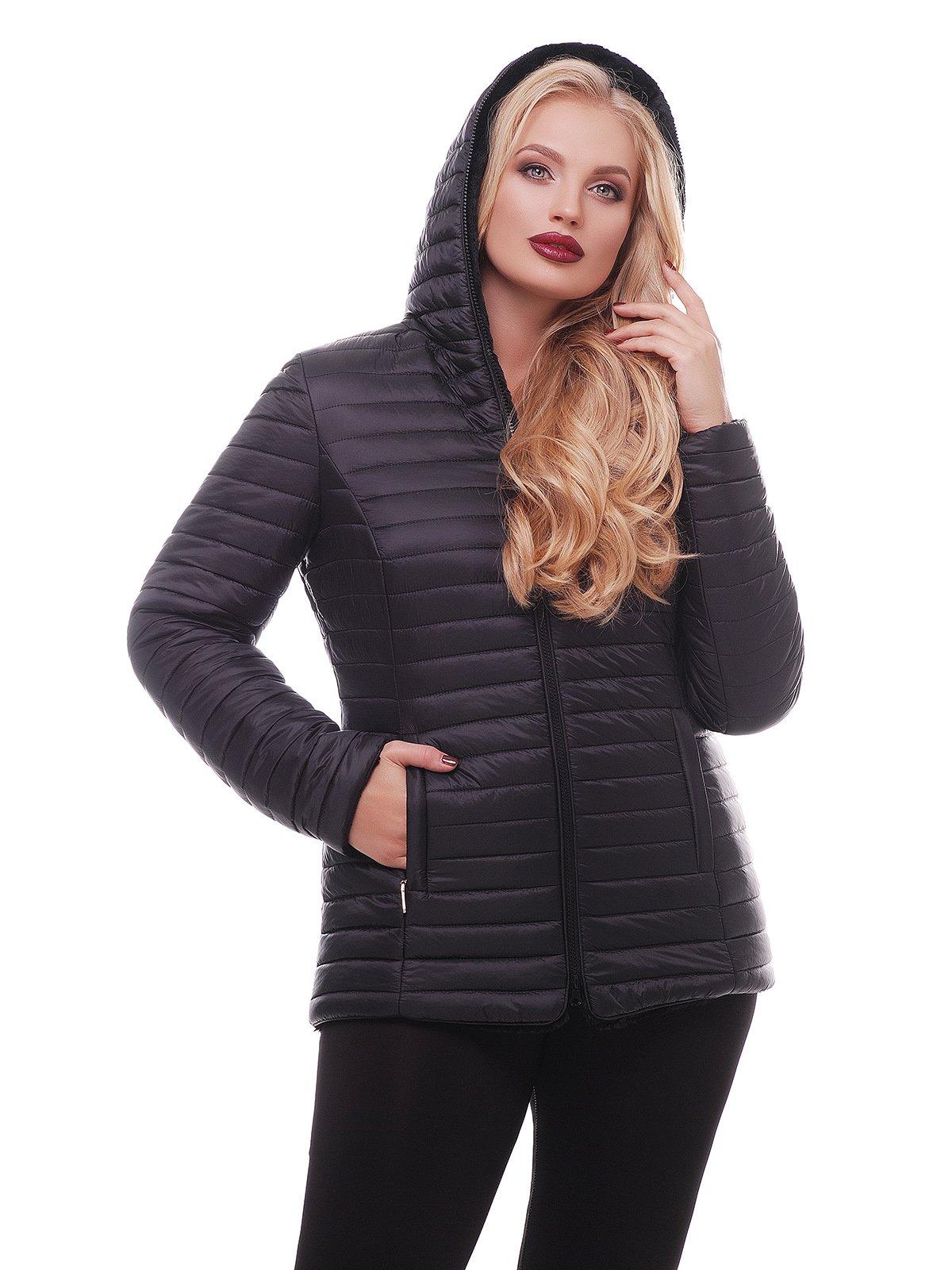 Куртка чорна двостороння | 3814241