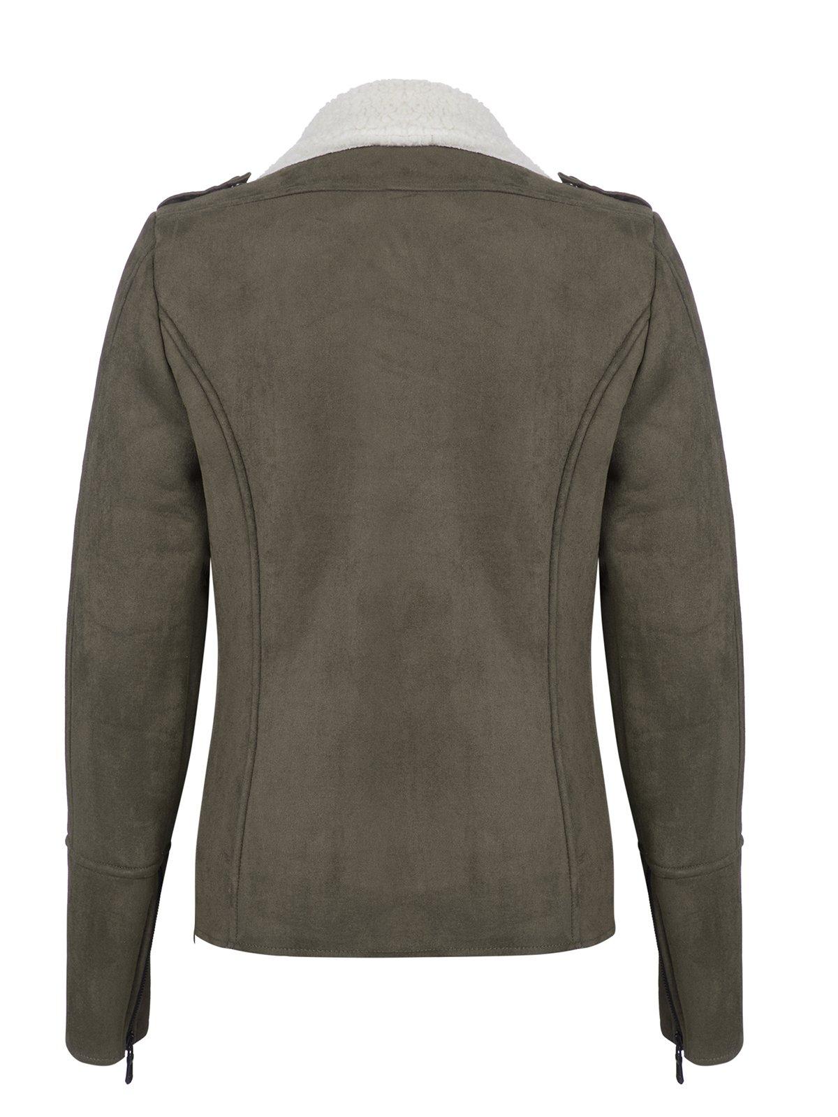 Куртка цвета хаки | 3819404 | фото 4