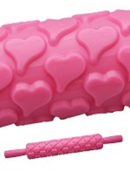 Скалка текстурная «Сердечки» (250 мм) | 3823148