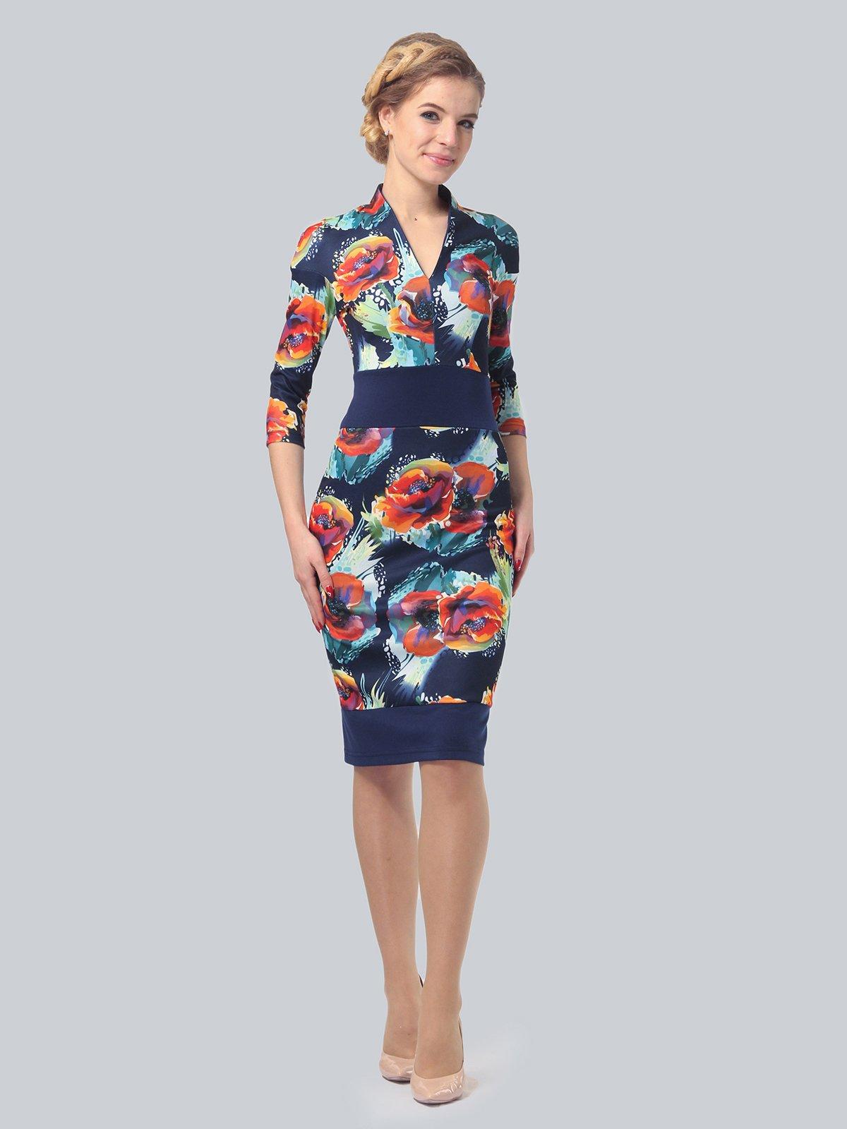 Платье в цветочный принт | 3828038