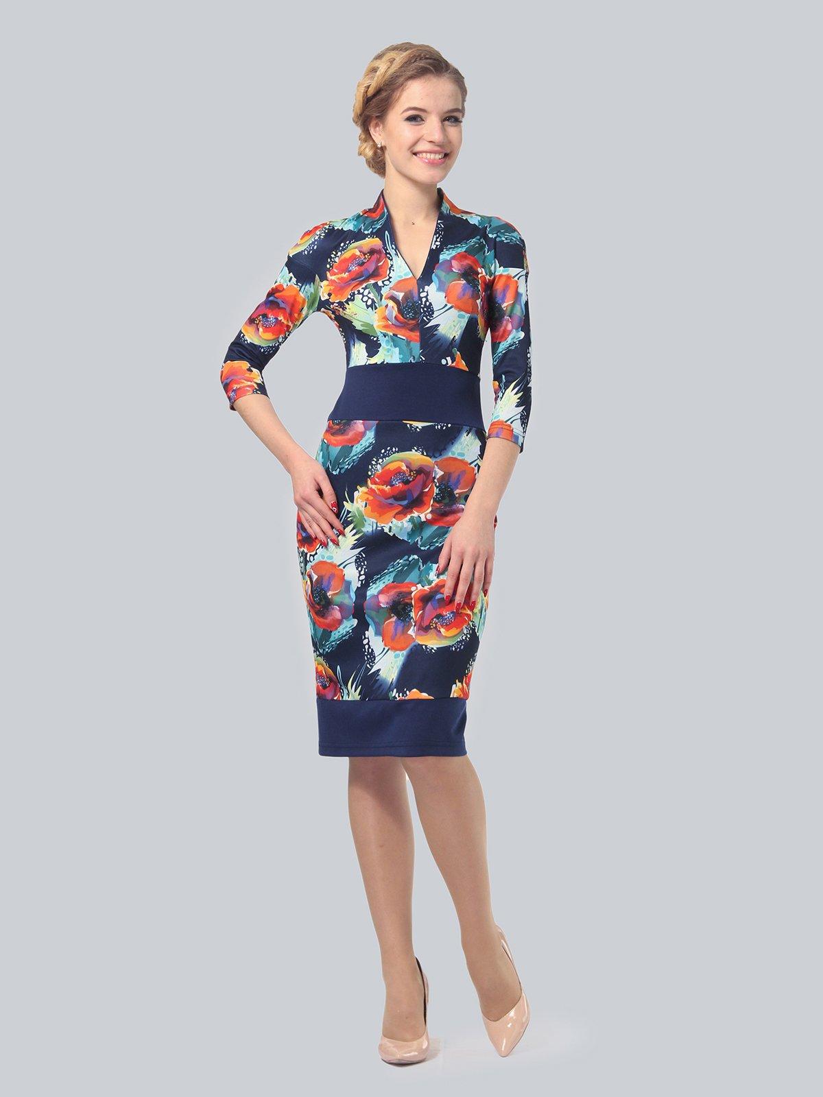Платье в цветочный принт | 3828038 | фото 2