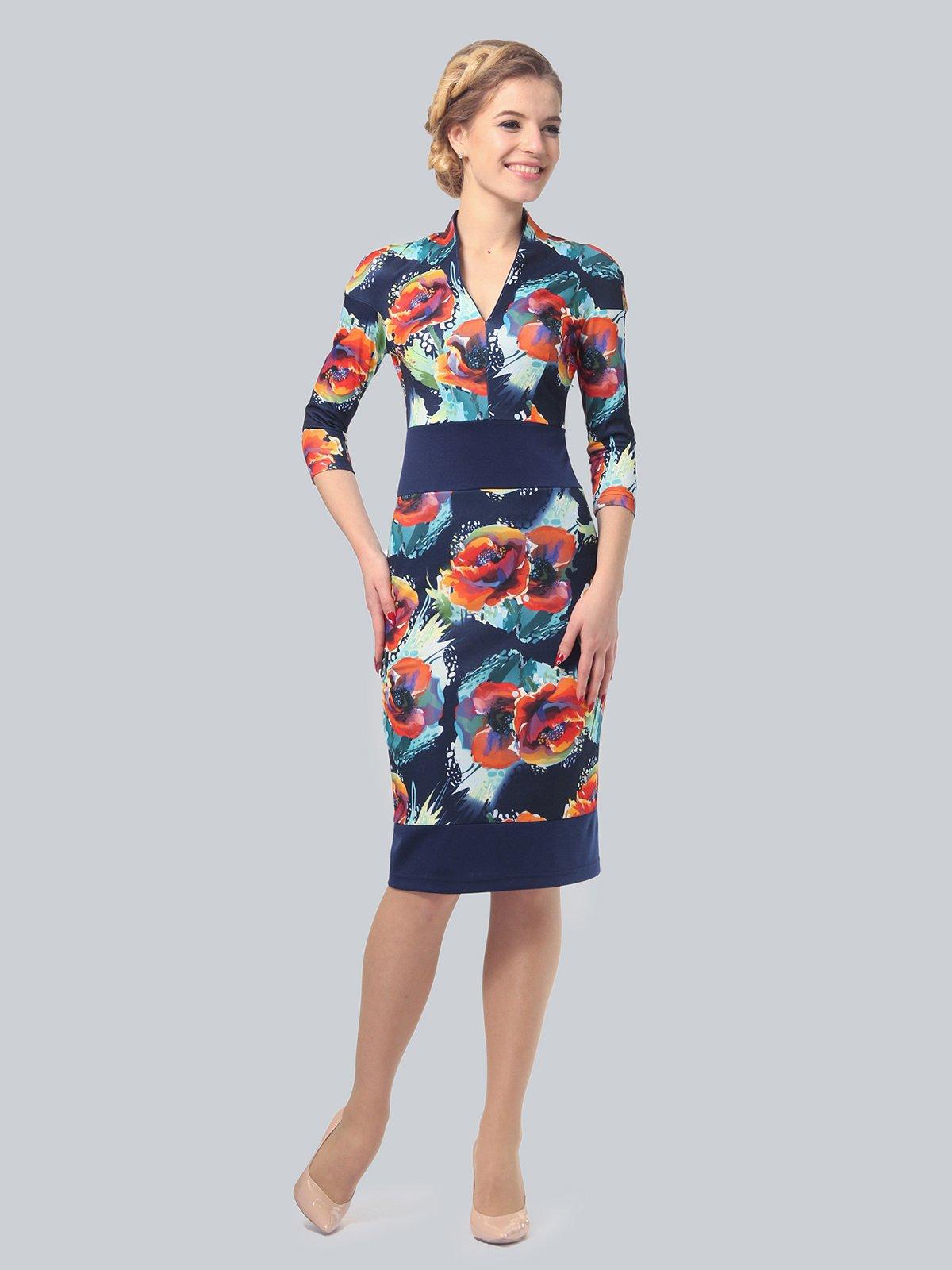 Платье в цветочный принт | 3828038 | фото 3