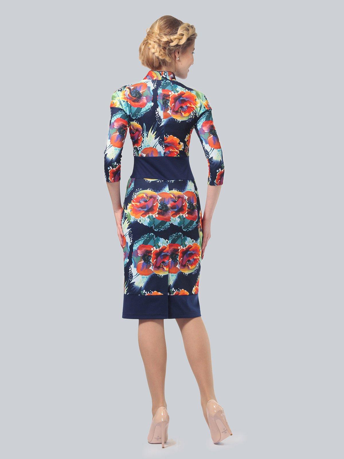 Платье в цветочный принт | 3828038 | фото 4