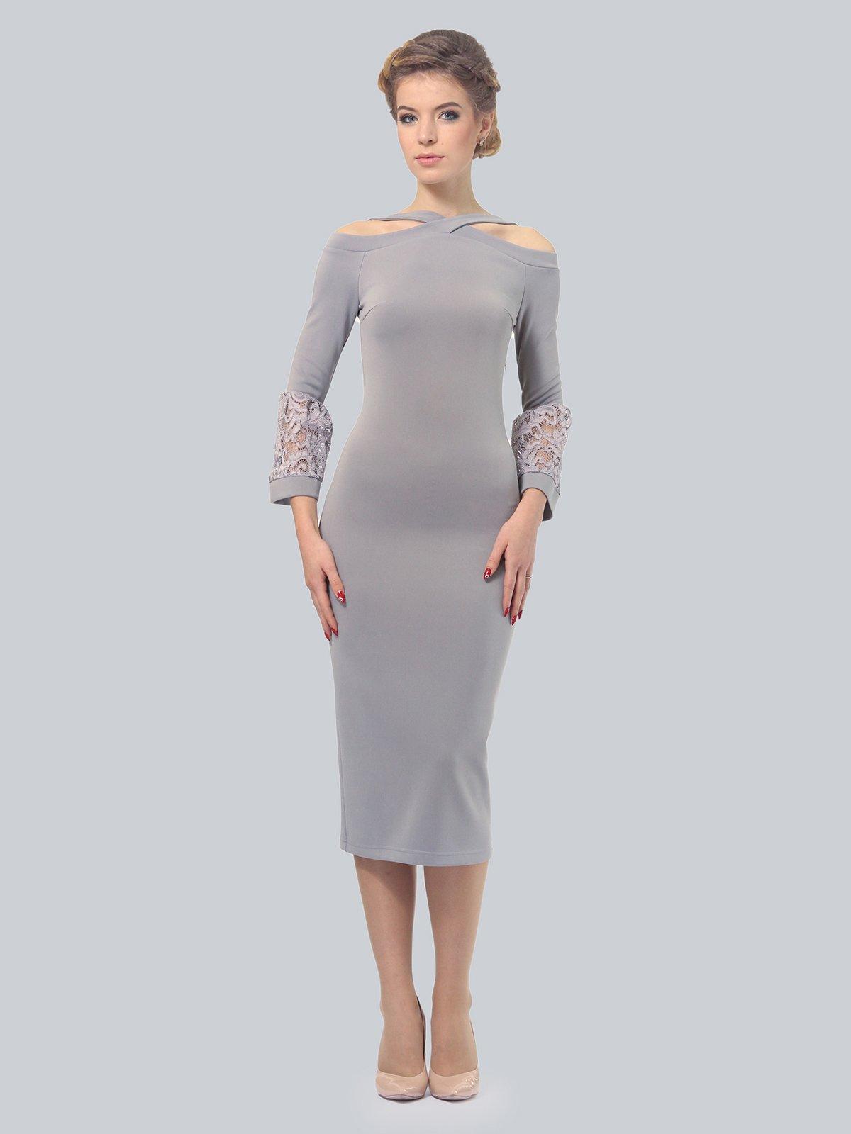 Платье светло-серое | 3828061