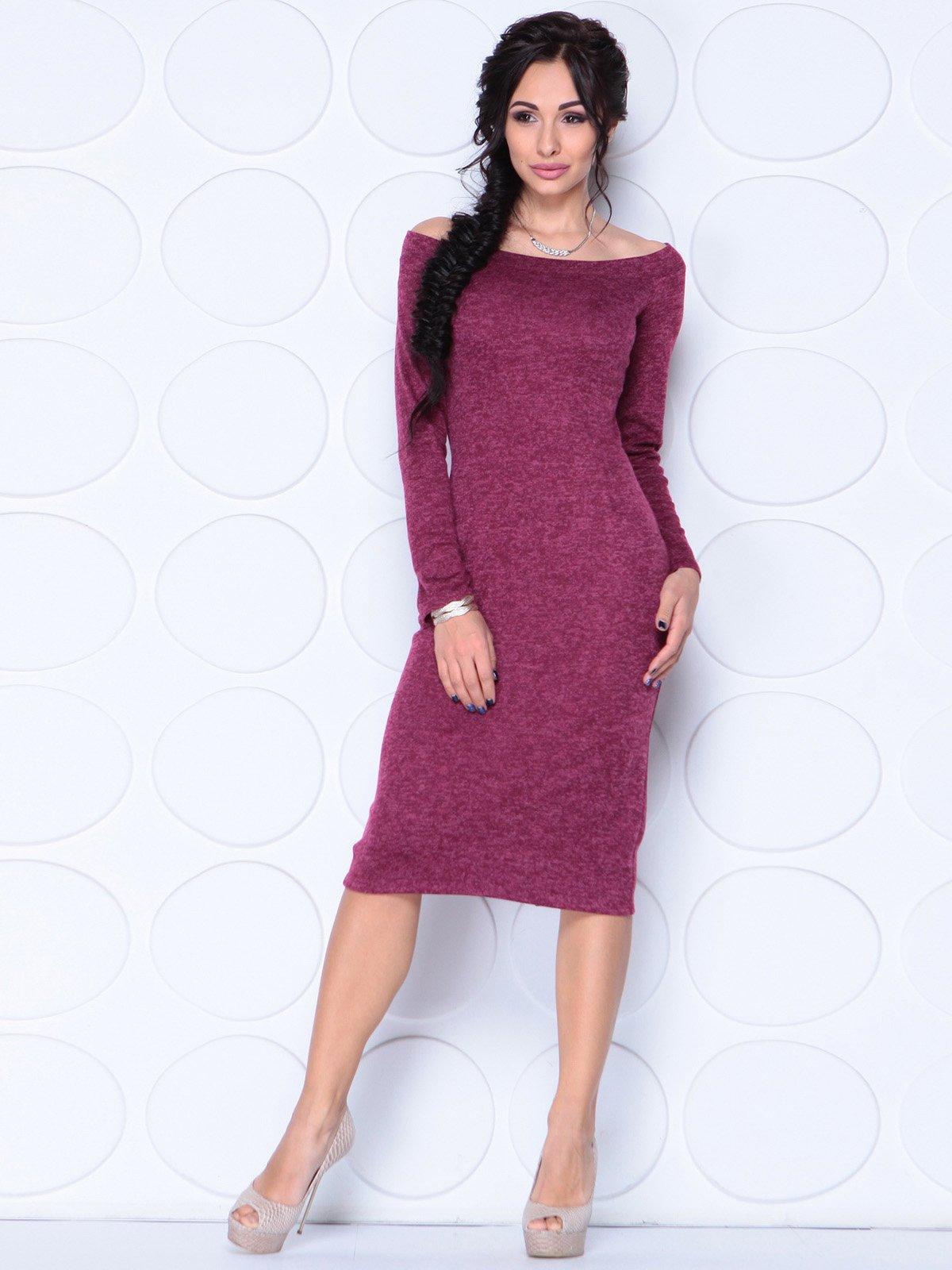 Платье цвета бордовая малина | 3817895