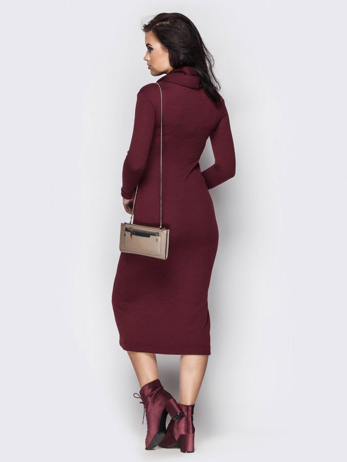 Платье бордовое | 3758834 | фото 2