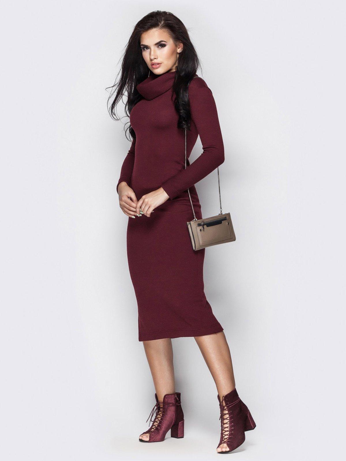 Платье бордовое | 3758834