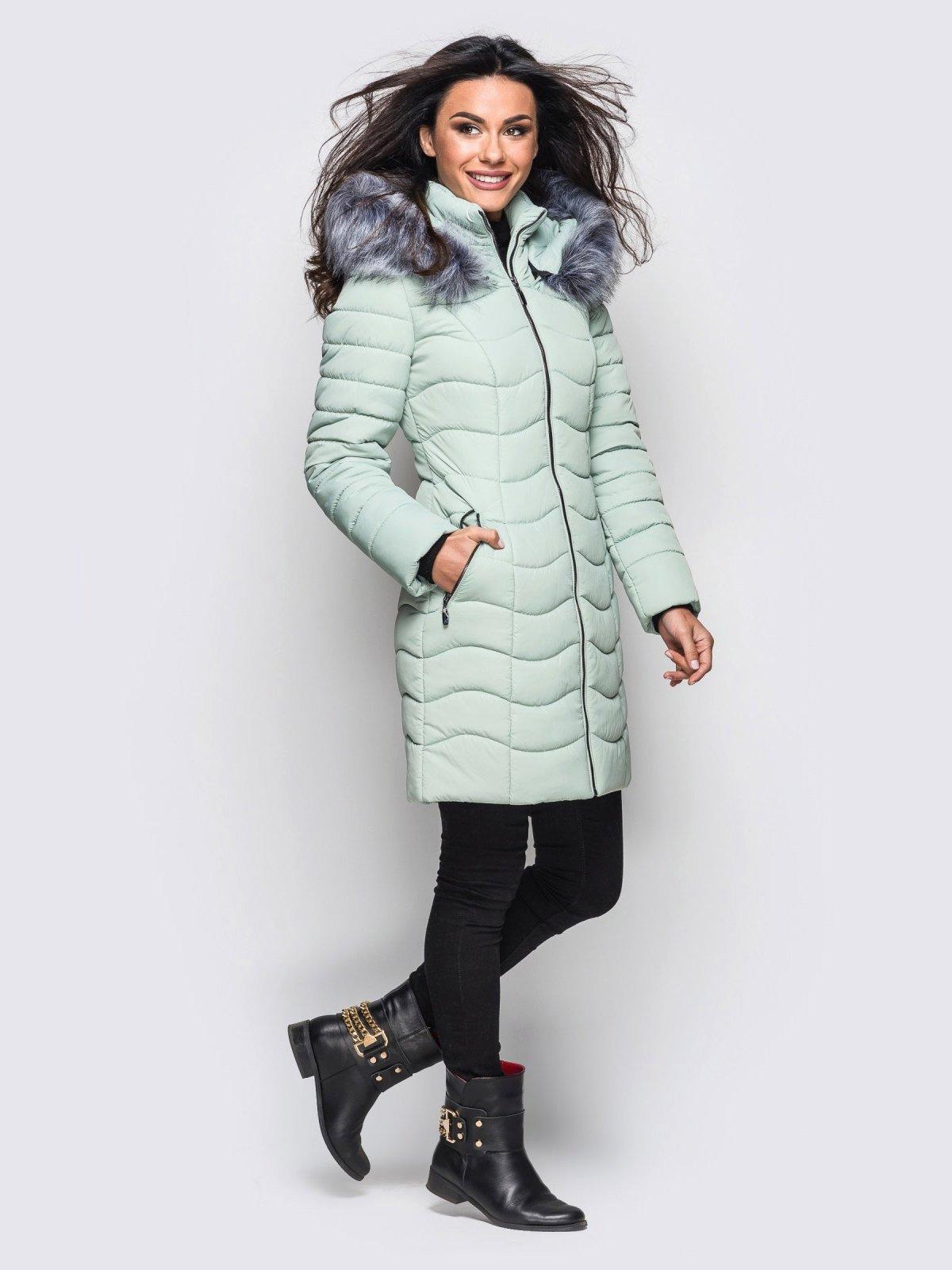 Пальто светло-бирюзовое   3833735   фото 2