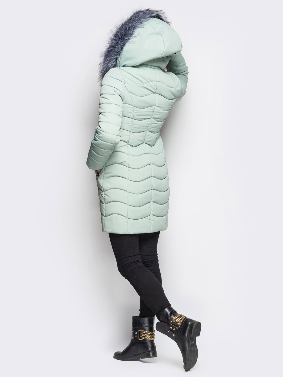 Пальто светло-бирюзовое   3833735   фото 3