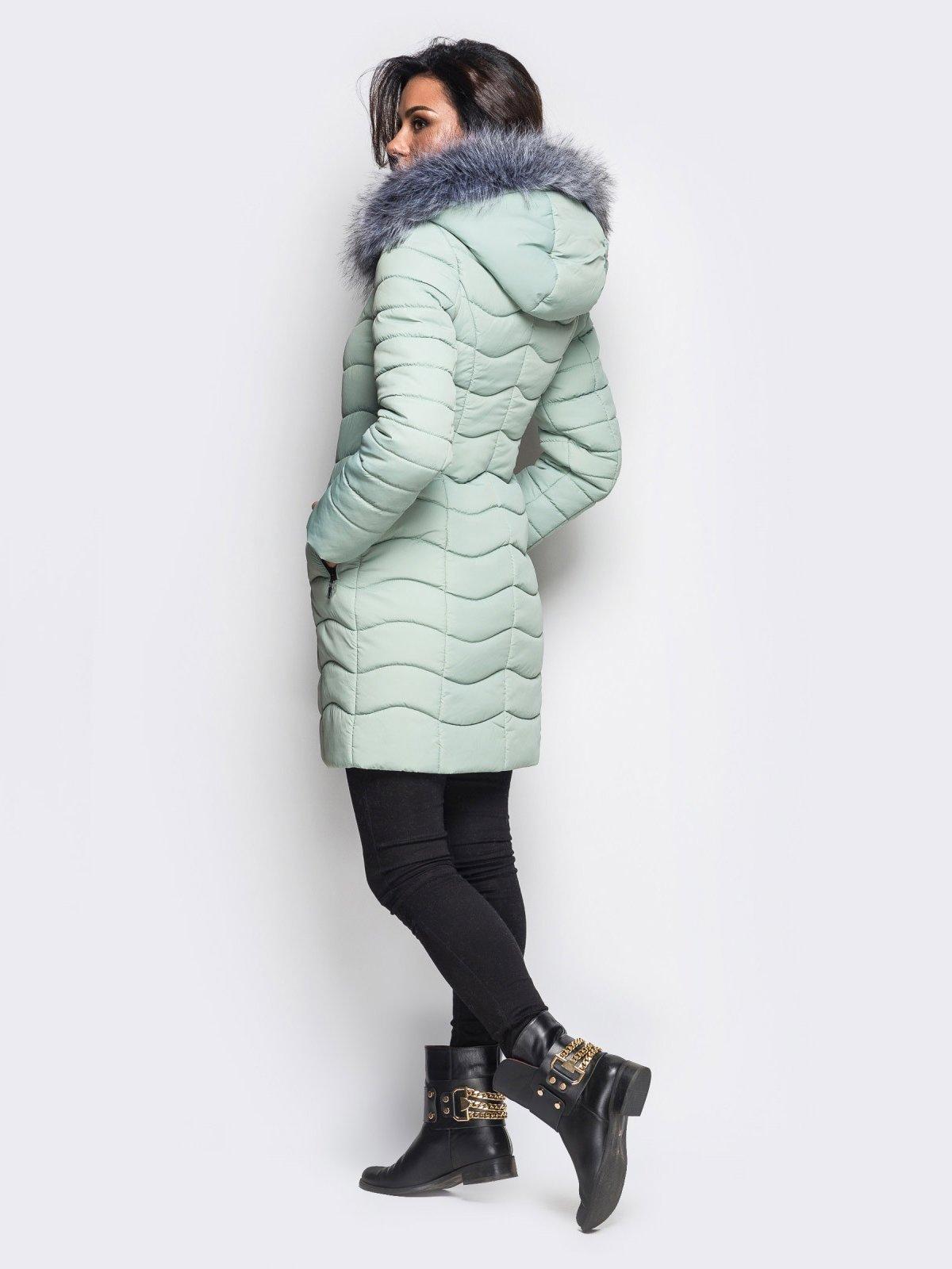 Пальто светло-бирюзовое   3833735   фото 5