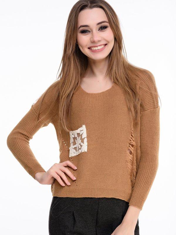 Джемпер коричневый | 3834635