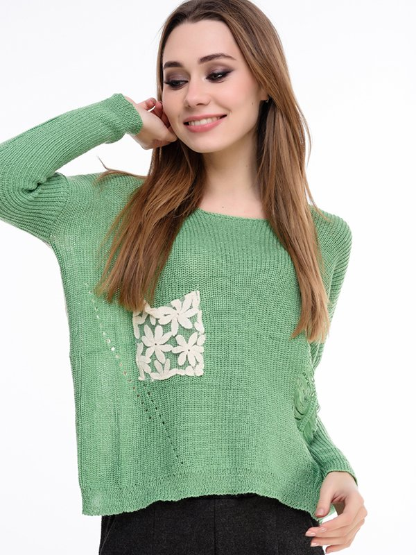 Джемпер зеленый | 3834637