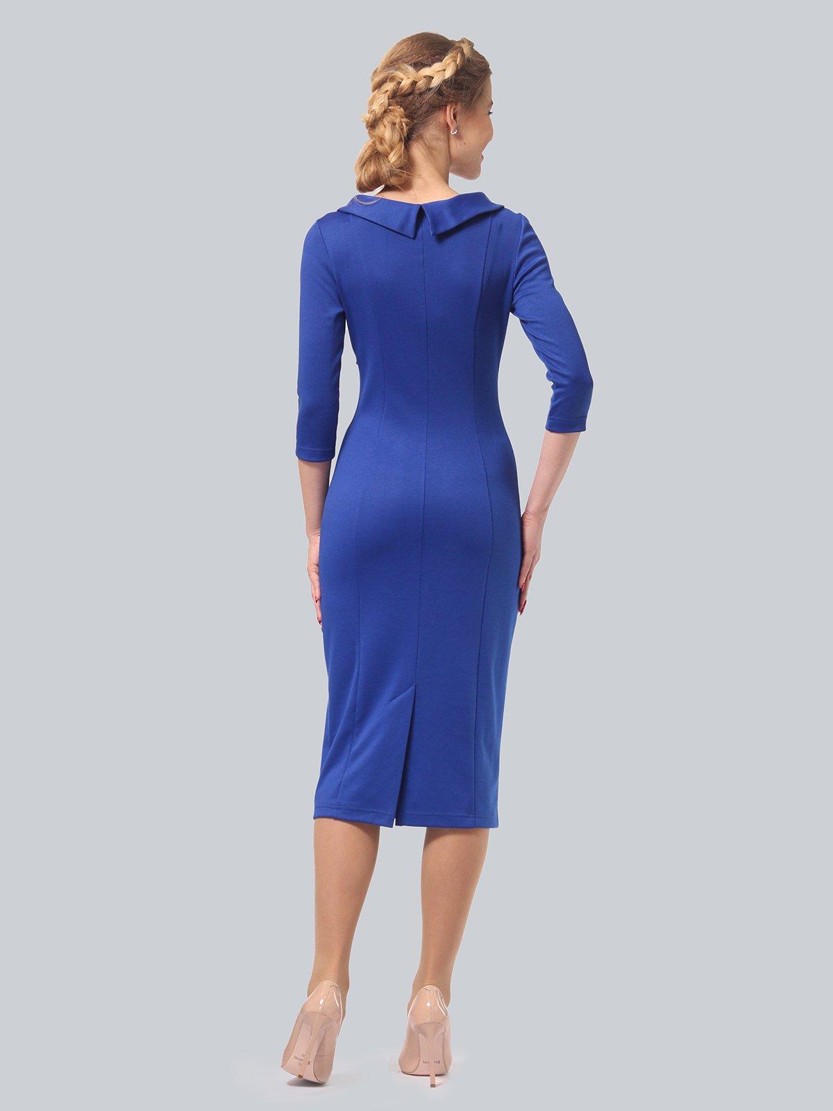 Платье цвета электрик с принтом | 3840436 | фото 3