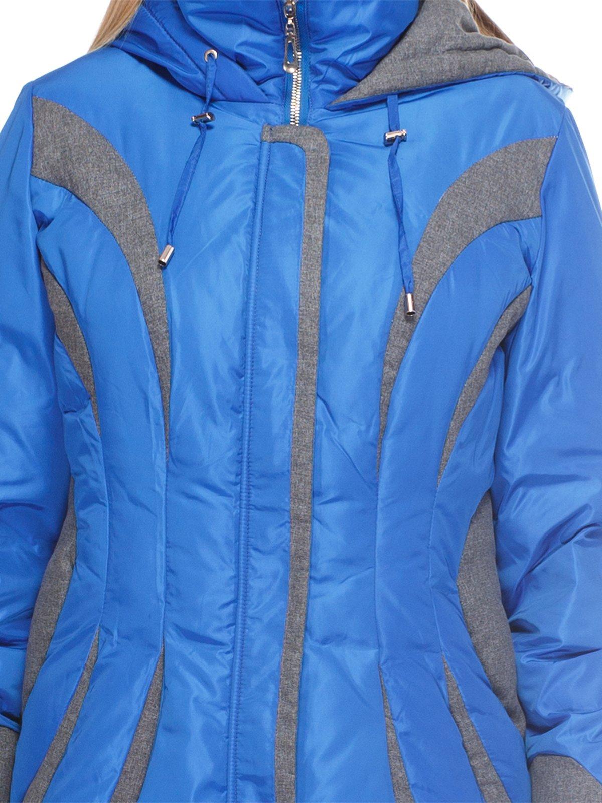 Пальто синее | 3845058 | фото 3