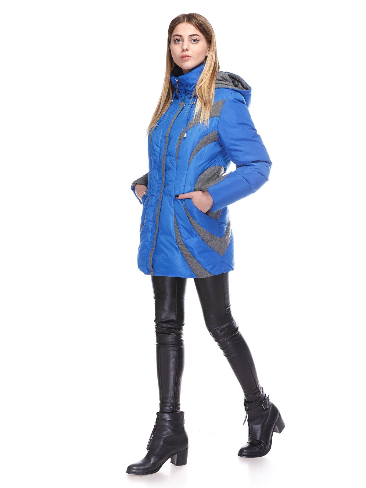 Пальто синее | 3845058 | фото 4