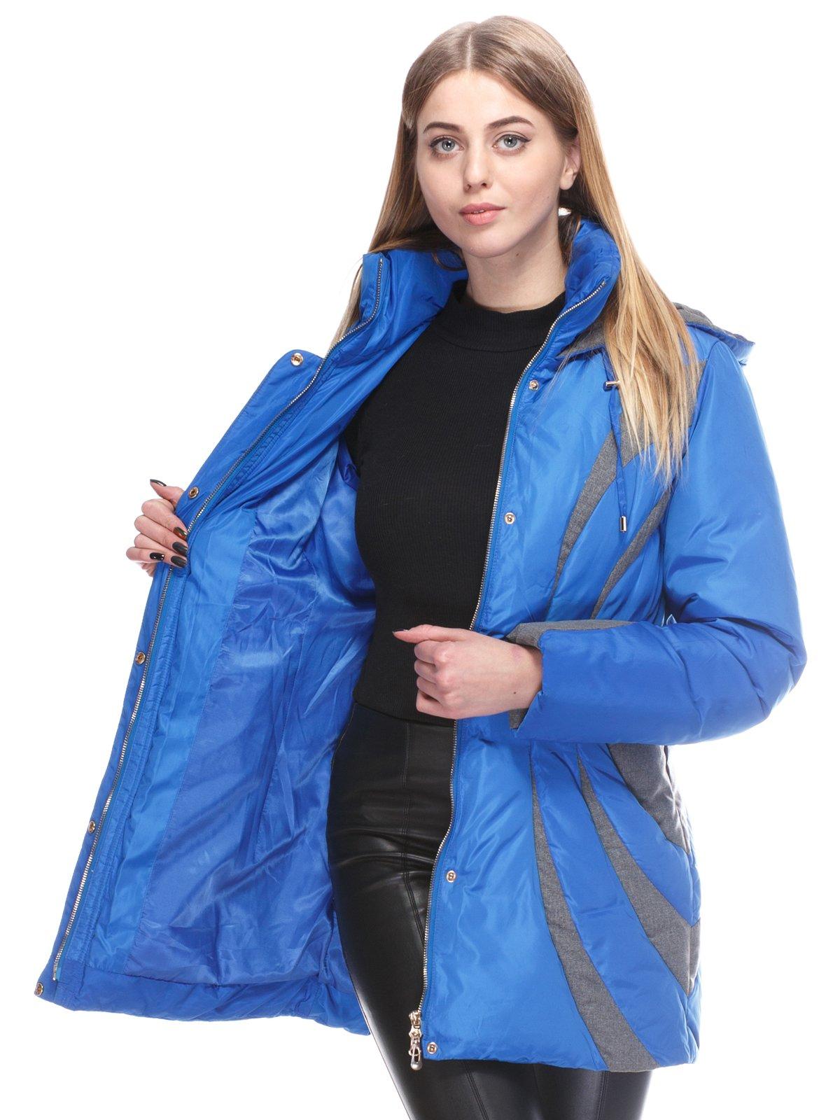 Пальто синее | 3845058 | фото 5
