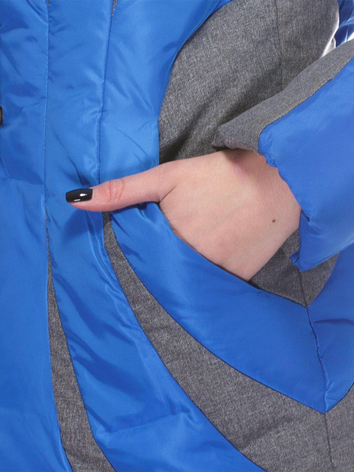 Пальто синее | 3845058 | фото 6