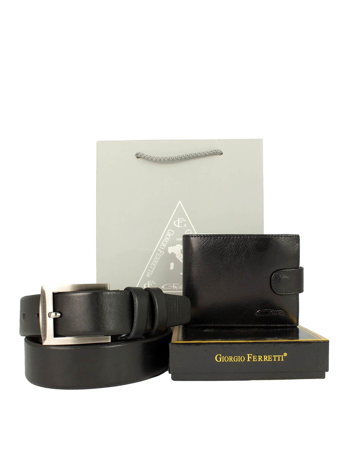 Набор подарочный: портмоне, ремень и пакет   3848178