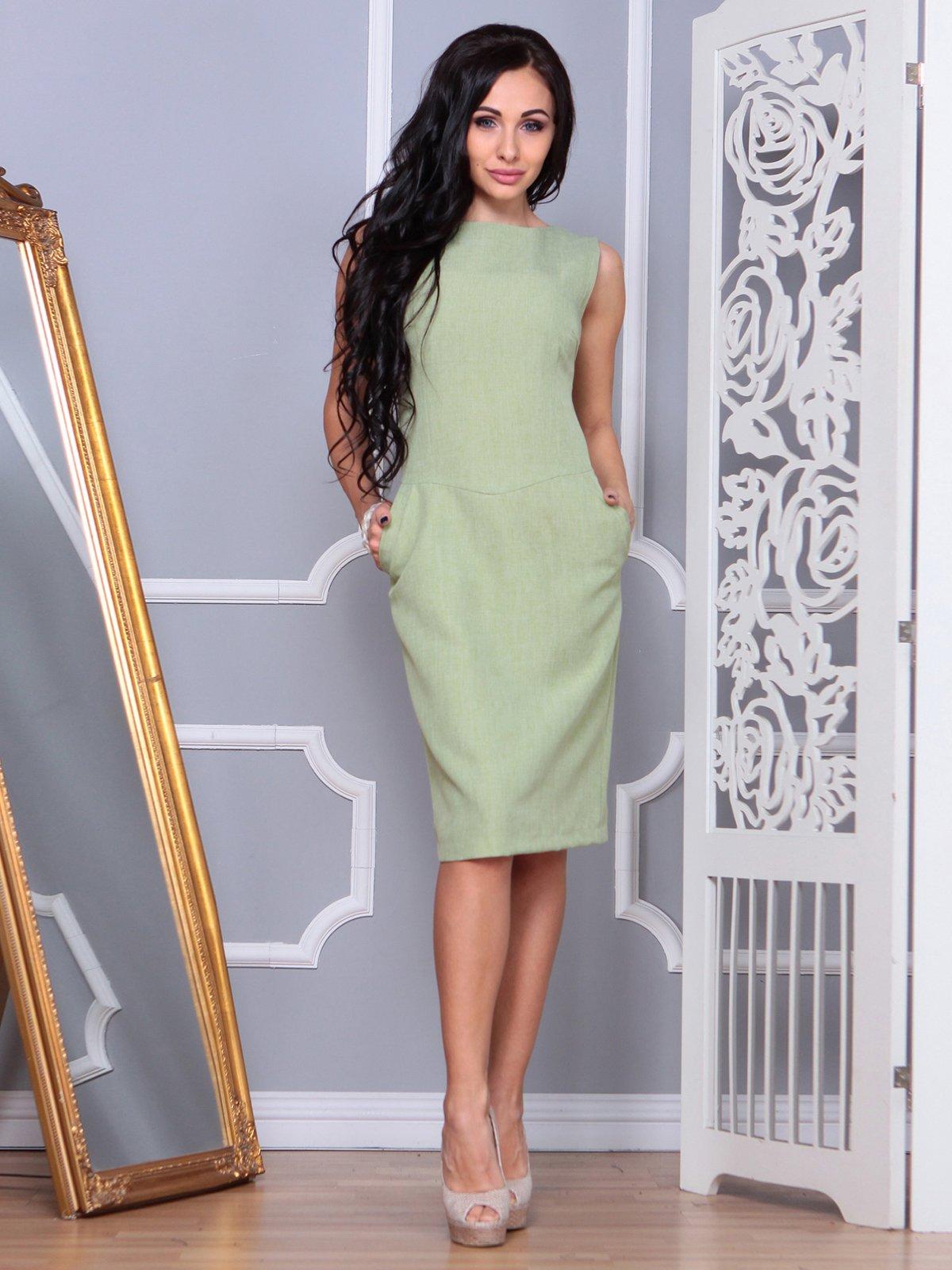 Платье оливкового цвета | 3853759