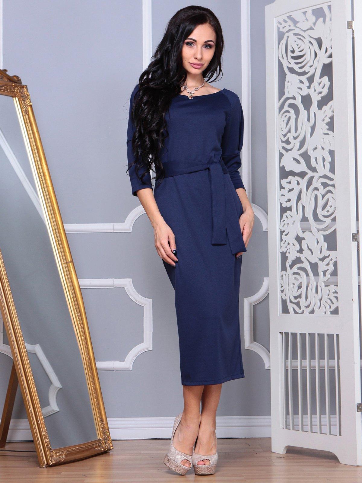 Сукня темно-синя | 3853785