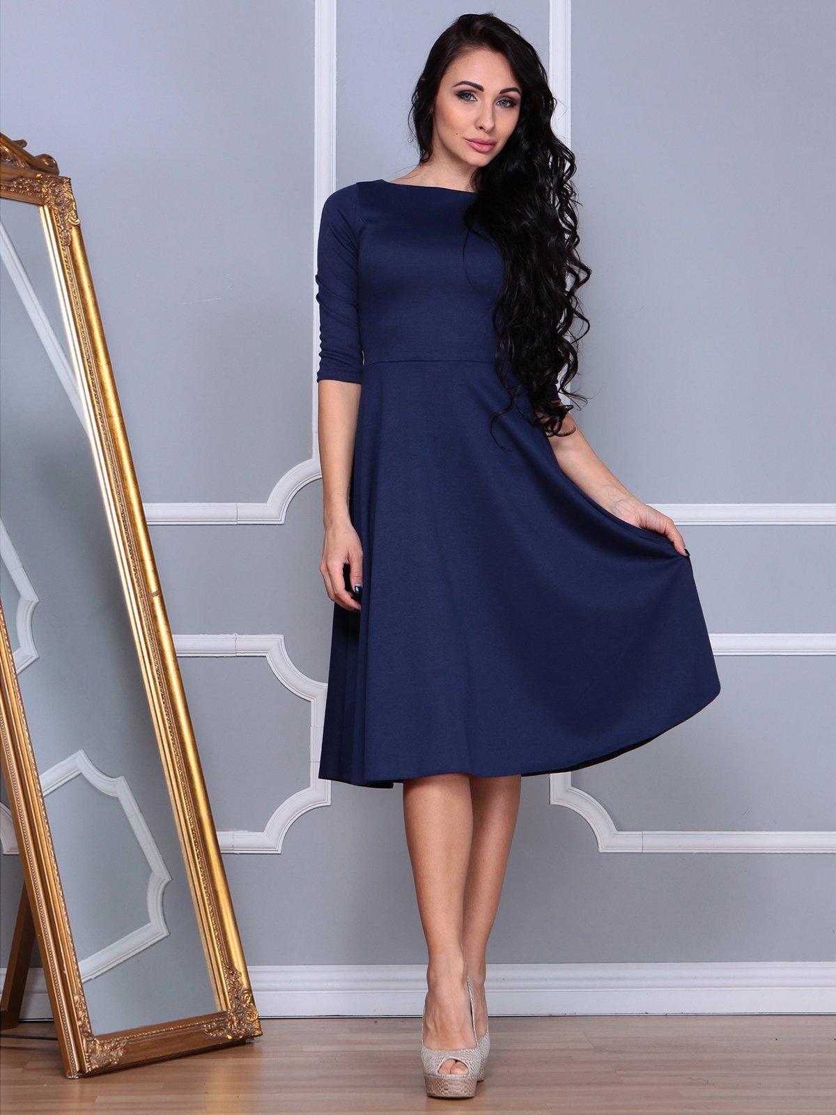 Платье темно-синее | 3853811