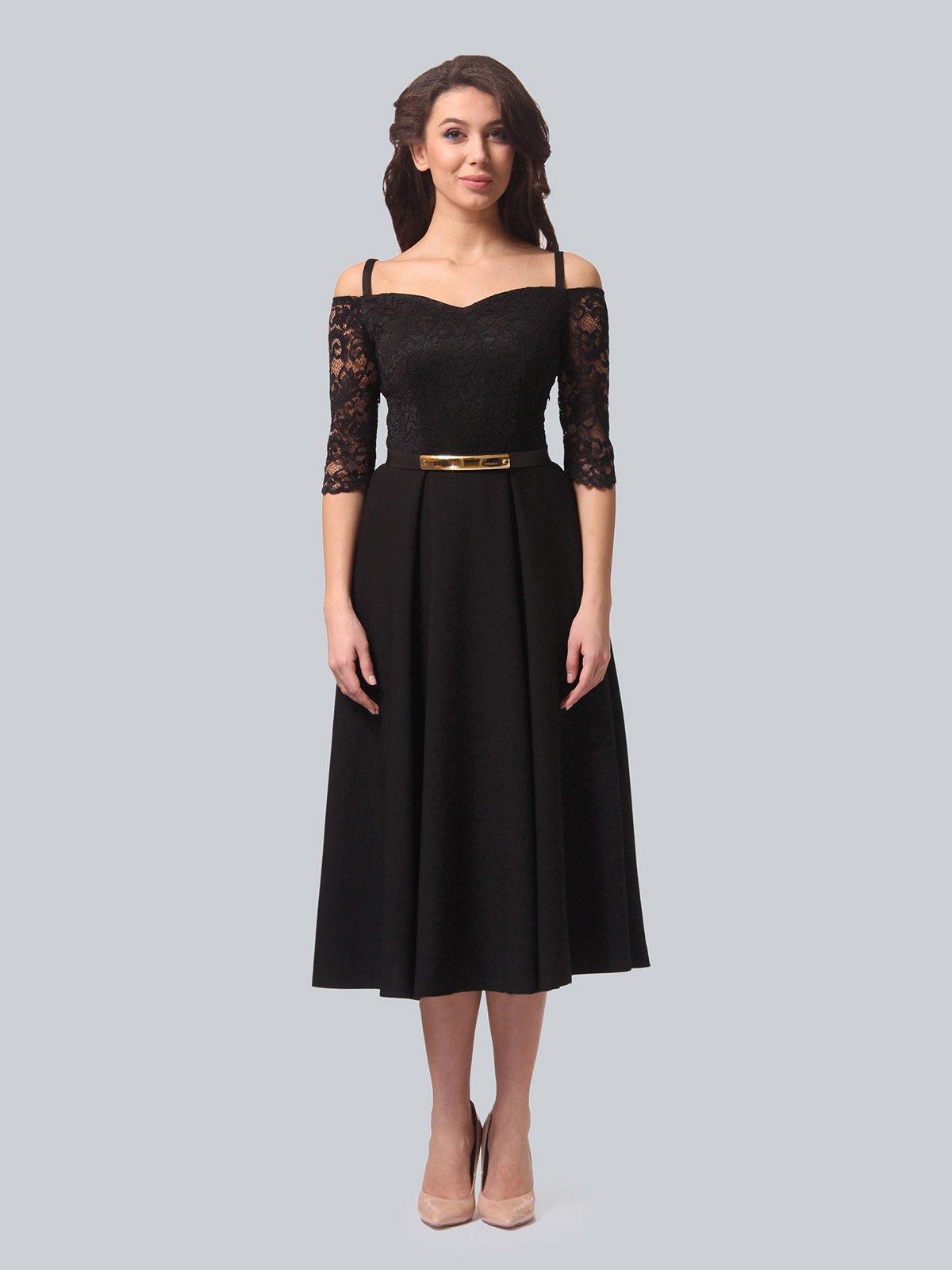 Платье черное | 3851903 | фото 3