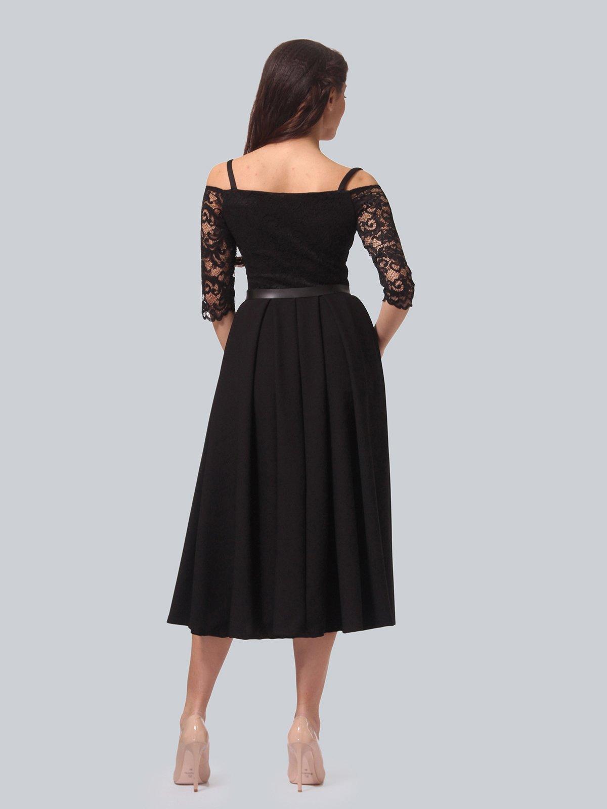 Платье черное | 3851903 | фото 4