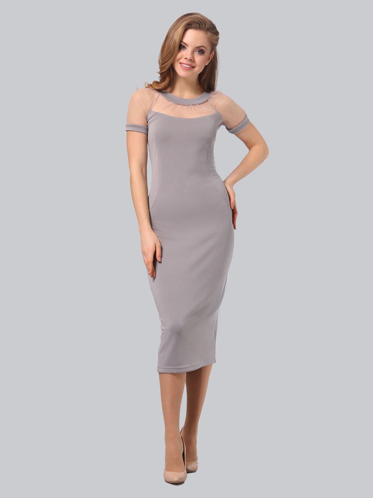 Платье серое   3851947