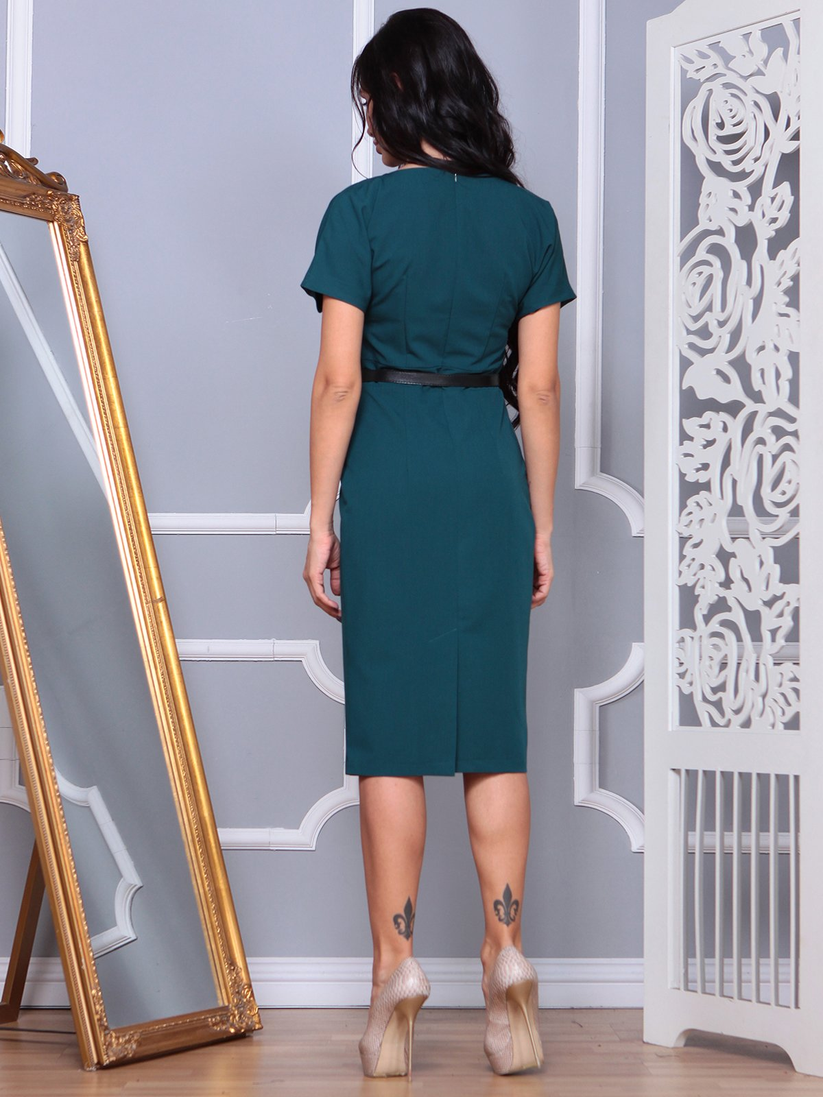 Платье темно-изумрудное | 3856295 | фото 2