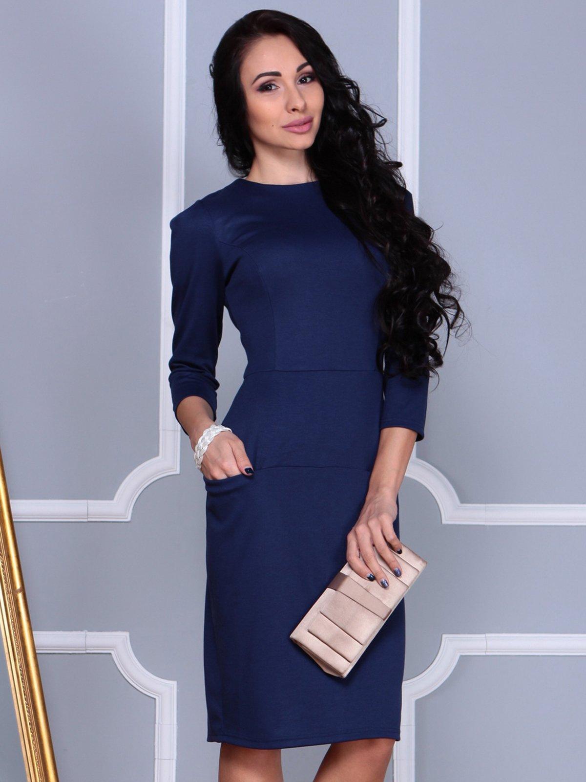 Платье темно-синее | 3858520